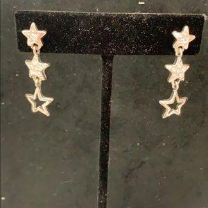 Star cluster drop earrings